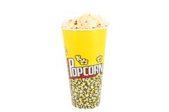 The Pop corn. Isolated with clipping p Stock Photo