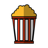 Pop corn isolated icon Stock Photo