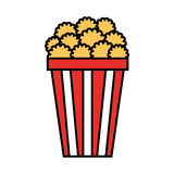 Pop corn isolated icon Stock Image
