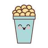 Pop corn kawaii character. Vector illustration design Stock Photo