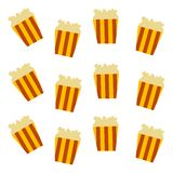Pop corn pattern Royalty Free Stock Images