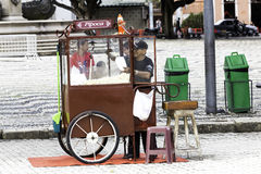 Pop Corn seller on the downtown of Manaus Royalty Free Stock Photos