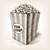 Pop corn sketch style vector illustration Stock Photo