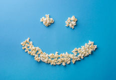 Pop corn smile Stock Photos