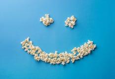 Pop corn smile Stock Photos