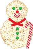 Pop Corn Snowman Illustration Stock Image
