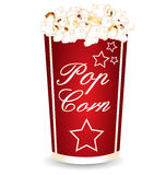 Pop corn star. S icon vector Royalty Free Stock Photography