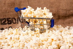 Pop corn in trolley Royalty Free Stock Images