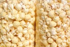 Pop-corn w plastikowym worku Zdjęcie Royalty Free