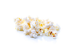 Pop corn on white background Royalty Free Stock Photo