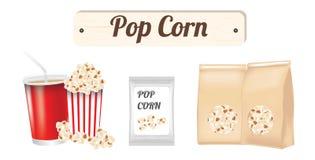 Pop corn. A Pop corn on a white background Stock Photography