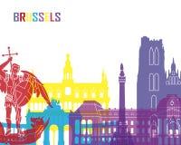 Pop de horizon van Brussel vector illustratie