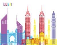 Pop de horizon van Doubai stock illustratie