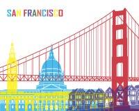 Pop de horizon van San Francisco royalty-vrije illustratie