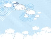Pop dream sky background Royalty Free Stock Images