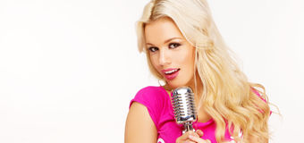 Pop female blonde Royalty Free Stock Images