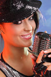 Pop female singer Stock Photography