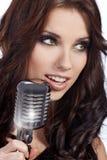 Pop female singer Royalty Free Stock Photo
