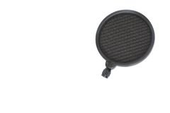 POP filter for Condenser and Dynamic mic in Studio stock images