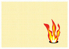 Pop flame. Flame in pop-art style Royalty Free Stock Photography