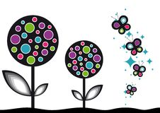 Pop Flower Background. Vector illustration Royalty Free Stock Image
