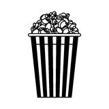 pop graan geïsoleerd pictogram Royalty-vrije Stock Afbeelding