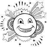 Pop happy face vector Royalty Free Stock Photography