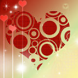 Pop heart valentine's day Royalty Free Stock Photography