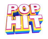 Pop hit - 3d logo Royalty Free Stock Photo