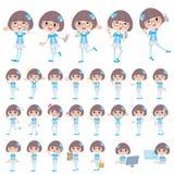 Pop idol in blue costume. Set of various poses of Pop idol in blue costume Royalty Free Stock Images