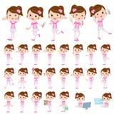 Pop idol in pink costume. Set of various poses of Pop idol in pink costume Royalty Free Stock Photos