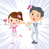 Pop idol wedding Announcement Stock Images