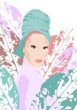Pop illustratie van een modieus meisje royalty-vrije illustratie