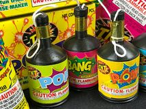 Pop Its and Party Poppers, Low Grade Fireworks Stock Images
