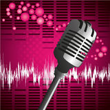 Pop mic background Stock Image