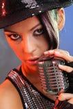 Pop music female singer Royalty Free Stock Images