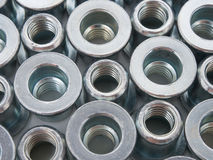 Pop Nut. Nut, PopNut, automotive manufacturing, construction usage, stainless, coating with Cr3, fastener items Royalty Free Stock Photography