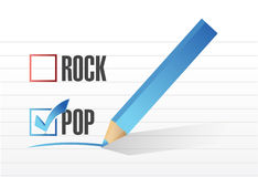 Pop over rock illustration design Royalty Free Stock Photo