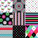 Pop patterns set Royalty Free Stock Images