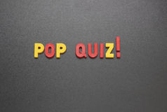 Pop quiz! Stock Images