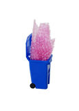 Pop Sheet in recycling bin Royalty Free Stock Image