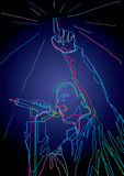 Pop singer. Colorful Illustration of a pop singer Royalty Free Stock Photo