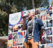 Pop singer performs before Pride Parade Stock Photography