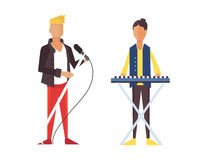 Pop singer Vector illustration flat isolated. Rock group Royalty Free Stock Photography