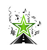 Pop star road logo Stock Photography