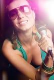 Pop Star Girl Singing Stock Photos