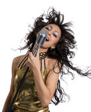Pop star singer stock photography
