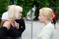 The pop stars  Valeriya and Angelika Varum Royalty Free Stock Photography