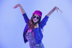 Pop style girl Royalty Free Stock Photo