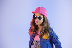 Pop style girl Royalty Free Stock Images
